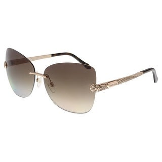 Roberto Cavalli RC831S ALZIRR 28F Rose Gold Butterfly Sunglasses