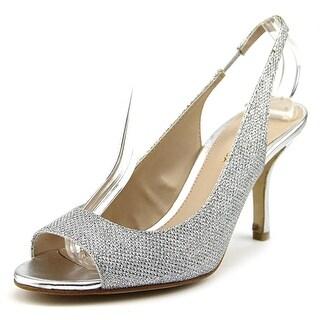 Pelle Moda Giana-Tx Women Peep-Toe Canvas Slingback Heel