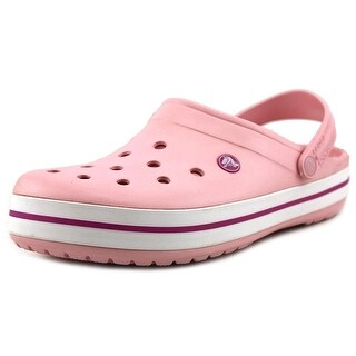 Crocs Crocband Men Round Toe Synthetic Pink Clogs