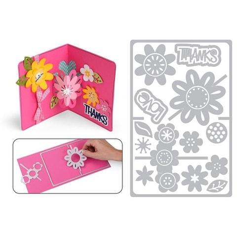 Sizzix SBarnard Framelits Die Card Drop In Flower
