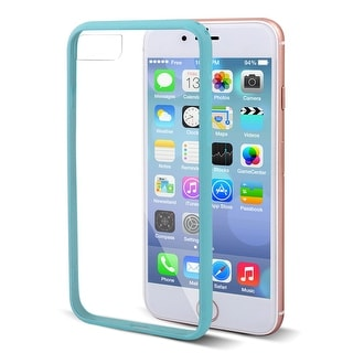 Plastic Frame Drop Protection Screen Protector Phone Case Blue for iPhone 7