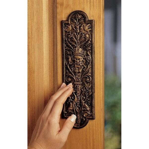 Design Toscano Greenman Iron Door Plate