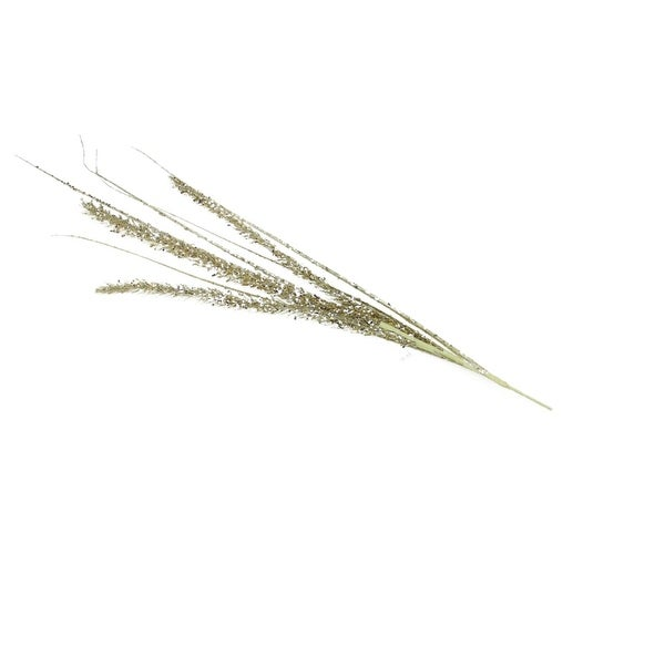 """39"""" Silent Luxury Platinum Glittered and Sequined Artificial Fern Christmas Spray - silver"""