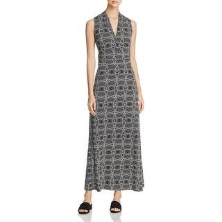 Vince Camuto Womens Maxi Dress Printed Blouson