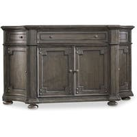 """Hooker Furniture 5700-75900 72"""" Wide Hardwood Cabinet from the Vintage West Collection - dramatic dark charcoal"""