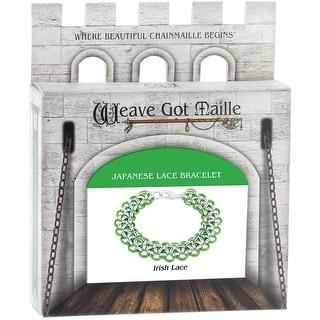 Chainmaile Bracelet Jewelry Kit-Irish Lace/Green