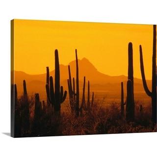 """""""Desert at sunset"""" Canvas Wall Art"""