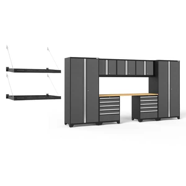 NewAge Products Pro Series 3.0 Grey 10 Piece Set 54402 Garage Cabinets