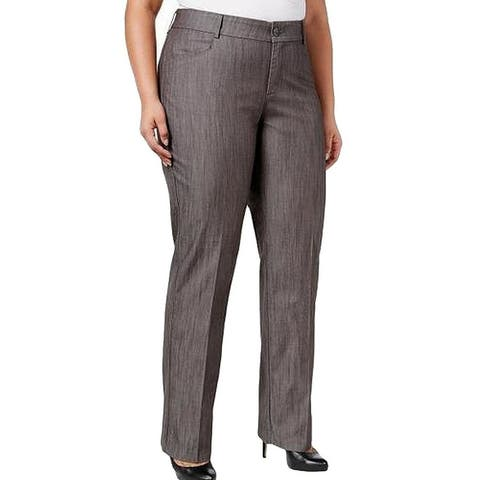 Lee Platinum Label Womens Pants Gray Size 18W Plus Madelyn Stretch