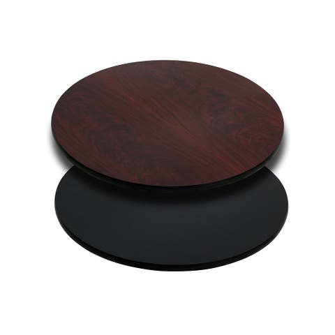 "24"" Round Table Top with Natural or Walnut Reversible Laminate Top"