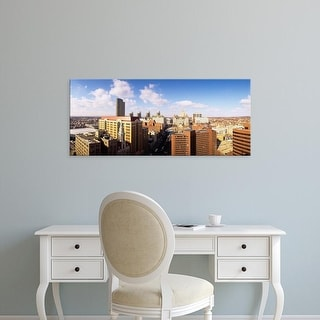Easy Art Prints Panoramic Images's 'High angle view of a city, Albany, New York State, USA' Premium Canvas Art