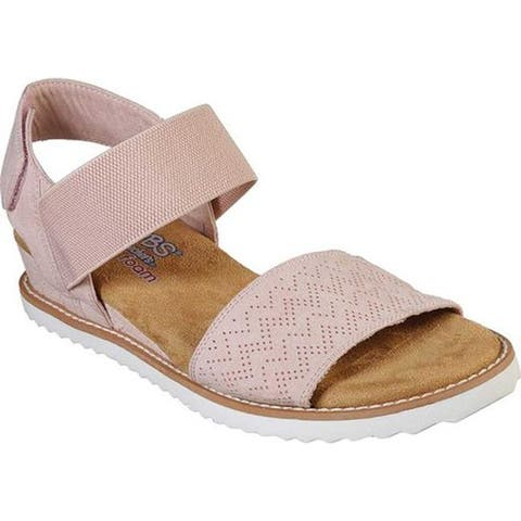 4642adb88 Skechers Women s BOBS Desert Kiss Slingback Sandal Blush Pink