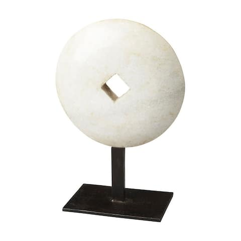 Offex Anthem Distressed Marble Sculpture - White