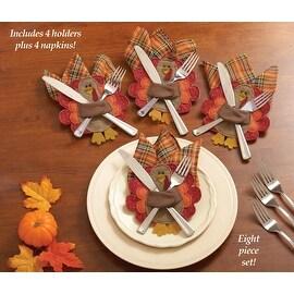 Thanksgiving Silverware & Napkin Holders - Set of 4