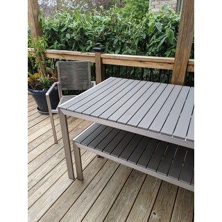 Lillian Outdoor Modern Aluminum Dining Chair with Rope Seat (Set of 2) by Christopher Knight Home