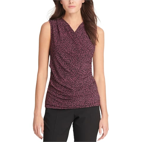 Dkny Womens Ruched Sleeveless Blouse Top