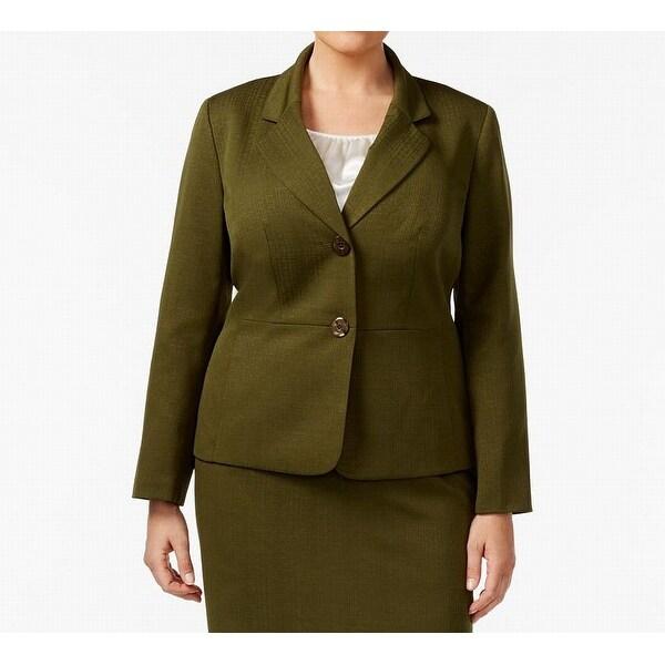 37bdfb9a41b666 Shop Le Suit Deep Womens Plus Notched-Lapel Jacket - On Sale - Free ...