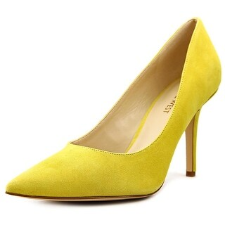 Nine West Jackpot Women Pointed Toe Suede Yellow Heels