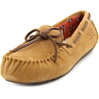 Ugg Australia Ryder Jungle Youth Round Toe Suede Tan Slipper
