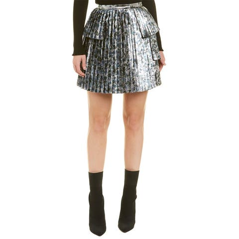 Tanya Taylor Sidra Mini Skirt - Silver