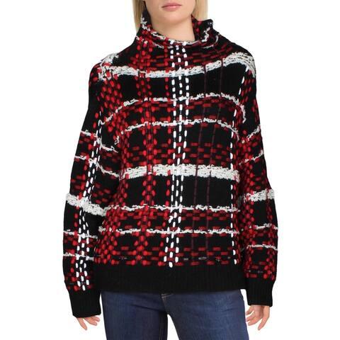 Rag & Bone Womens Sweater Textured Side Neck Zipper - Red