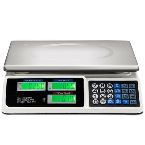 66Lbs Digital Weight Scale Price Computing Retail Count Scale Food