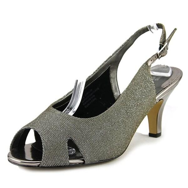 Ros Hommerson Lana Women N/S Peep-Toe Synthetic Silver Slingback Heel