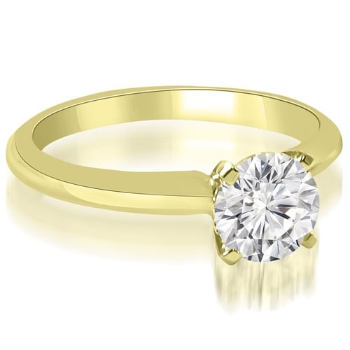 0.50 cttw. 14K Yellow Gold Classic Solitaire 4-Prong Diamond Engagement Ring
