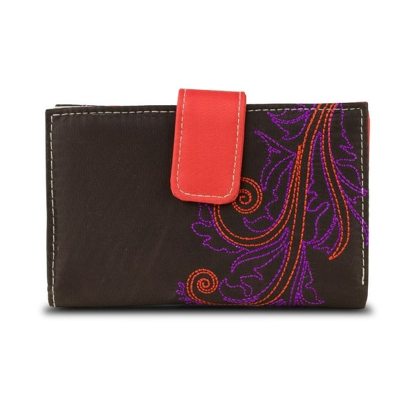 Travelon SafeID Hack-Proof Feather Tri-Fold RFID Wallet - Brown
