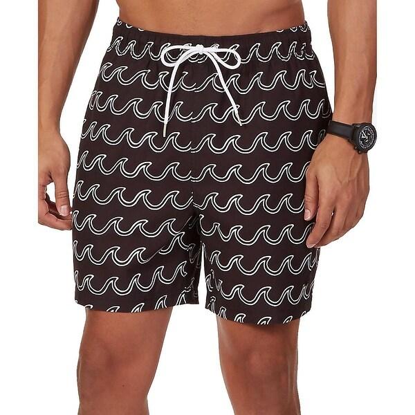 Nautica Mens Printed Lined Swim Trunks