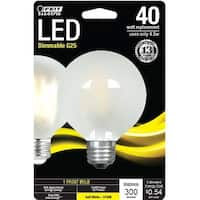 Feit Electric BPG2540F827LED Globe G25 LED Light Bulb, 4.5 Watts, Frosted