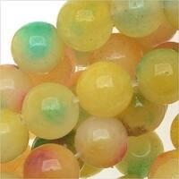 Multi Color Confetti Jade 6mm Round Beads / 15.5 Inch Strand