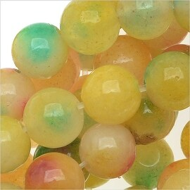 Multi Color Confetti Jade 6mm Round Beads / 15.5 Inch Strand