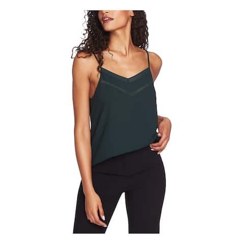 1. STATE Womens Green Spaghetti Strap V Neck Tank Top Size XL