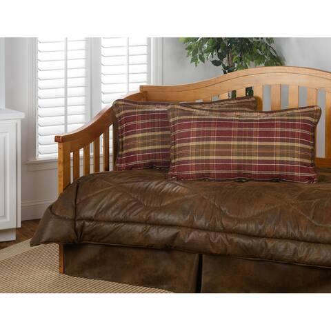 Gatlinburg faux leather daybed set