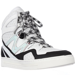 Marc by Marc Jacobs Ninja High Top Sneakers - Off White/Black
