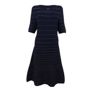 Tommy Hilfiger Women's Avery Striped Fit Flare Dress