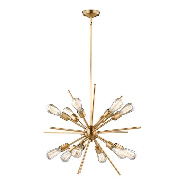 Estelle Natural Brass Mid-Century Modern Sputnik Pendant. Opens flyout.