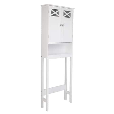 """68""""FCH Double Door Fork Toilet Cabinet White - Double Door"""
