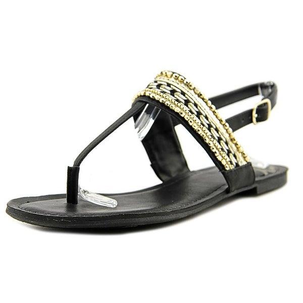 Fergalicious Frazzle Women Open-Toe Synthetic Black Slingback Sandal
