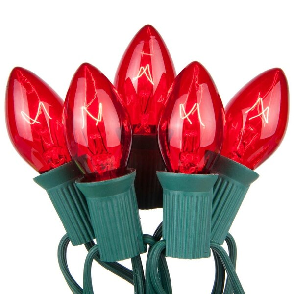 Wintergreen Lighting 67240 25 C7 5W Holiday Bulbs on Green Wire
