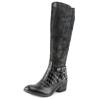 Donald J Pliner Dulce Round Toe Leather Knee High Boot