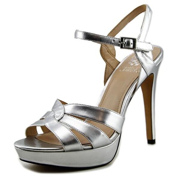 Vince Camuto Jillian Women Open Toe Synthetic Silver Platform Heel