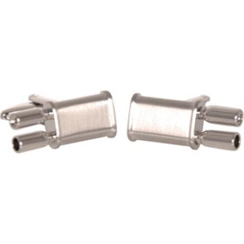 Dual Exhaust Automotive Cufflinks