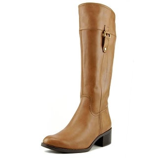 Franco Sarto Lizbeth Women  Round Toe Leather Brown Knee High Boot