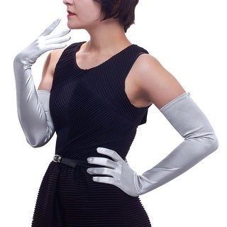 "22"" Classic Adult Size Opera Length Satin Gloves"