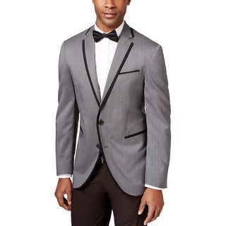 Kenneth Cole Reaction Slim Fit Grey Dotted Evening Jacket 40 Short 40S Blazer