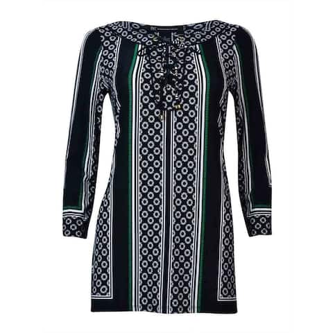 INC International Concepts Women's Lace Up Jersey Tunic