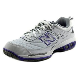 New Balance Tennis Women D Round Toe Leather Tennis Shoe