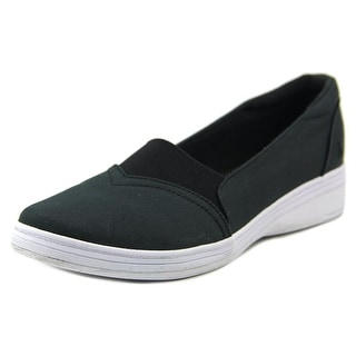 Grasshoppers Jade Twill Women N/S Round Toe Canvas Black Sneakers